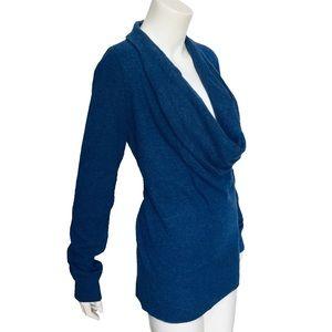 ANN TAYLOR | Angora Cashmere Cowl Neck Sweater L